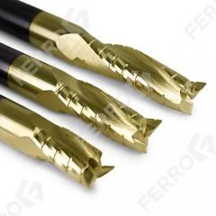 Фрезы со стружколомами выброс стружки вверх (позитивная спираль)